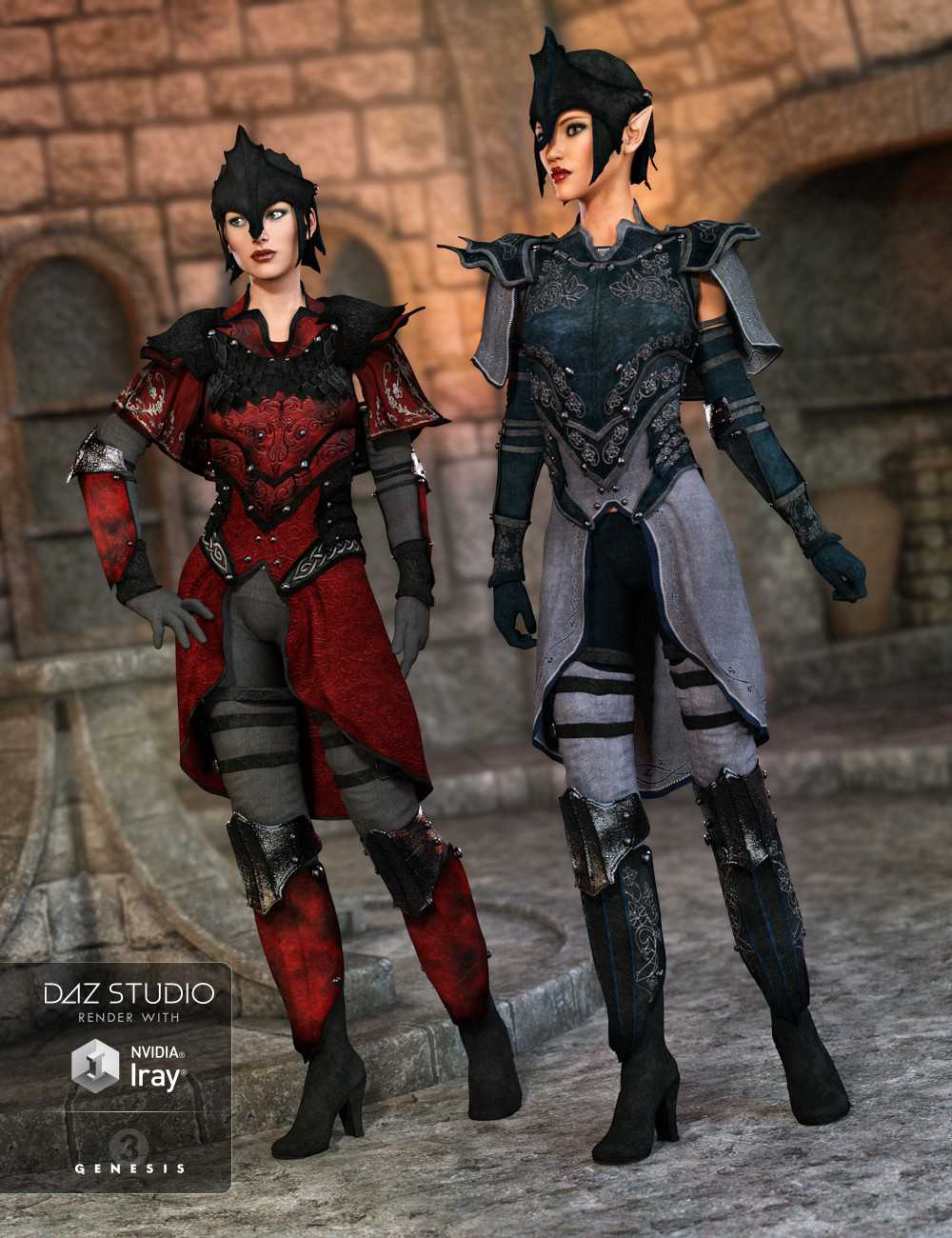 Elven Knight Armor Female Textures