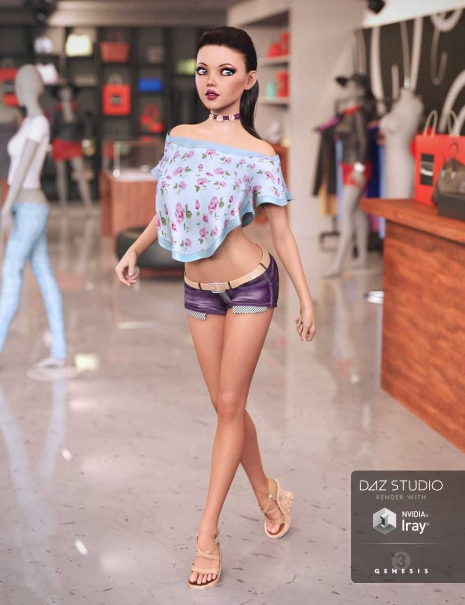 Miami Summer Outfit for Genesis 3 Female(s)