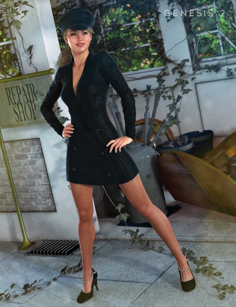 Noir Outfit for Genesis 2 Female(s)