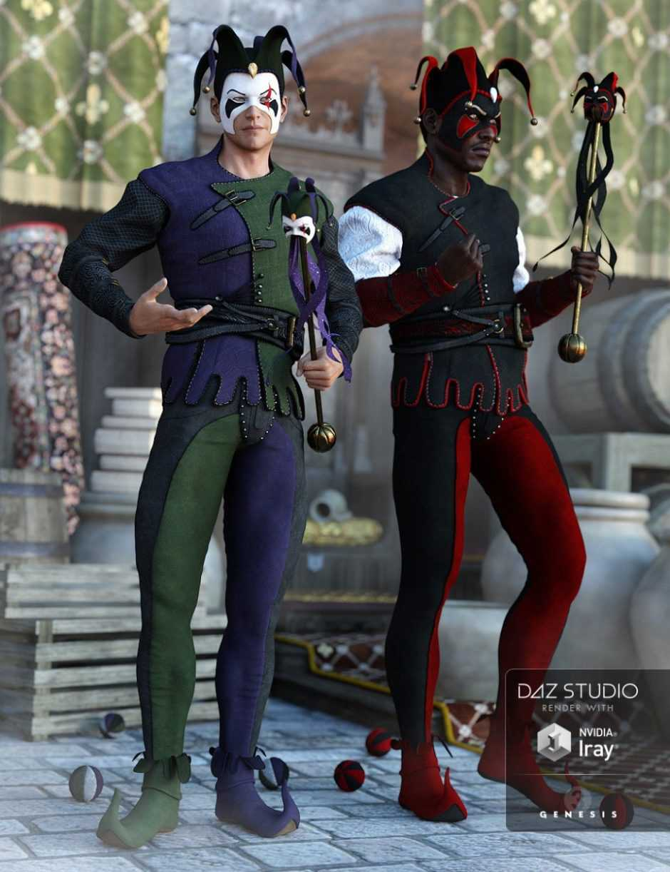 The Shadow Jester Outfit Textures