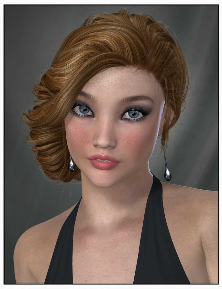 Baroness Hair for Genesis 2 Female(s) and Victoria 4
