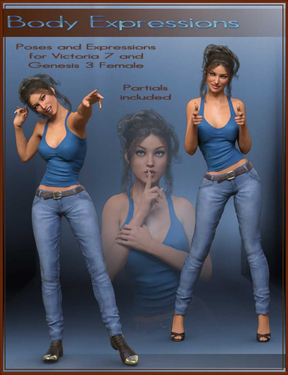 Body Expressions for Genesis 3 Female and Victoria 7