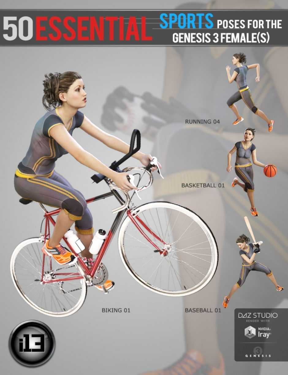 i13 50 Essential Sports Poses For Genesis 3 Females