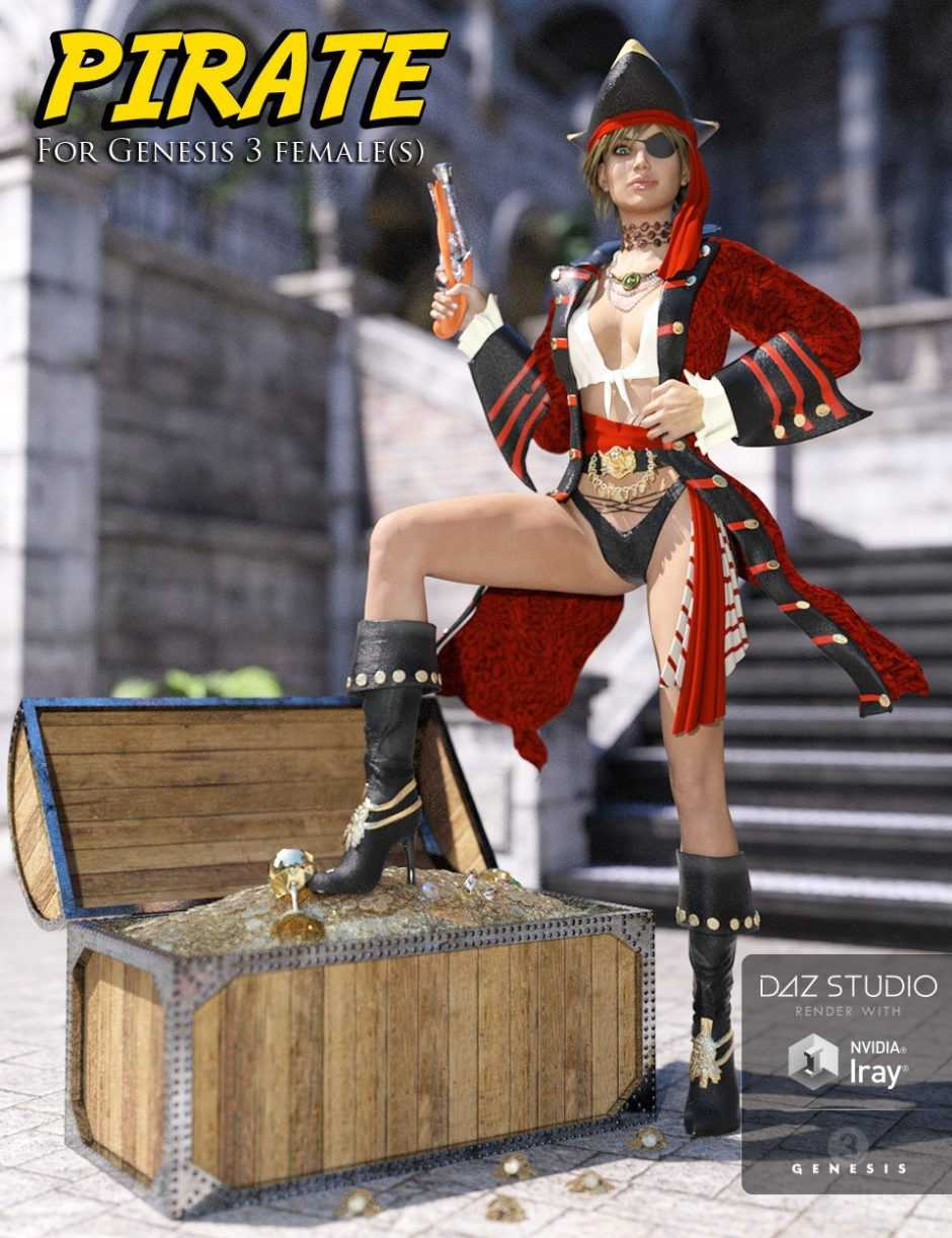 Pirate for Genesis 3 Female(s)