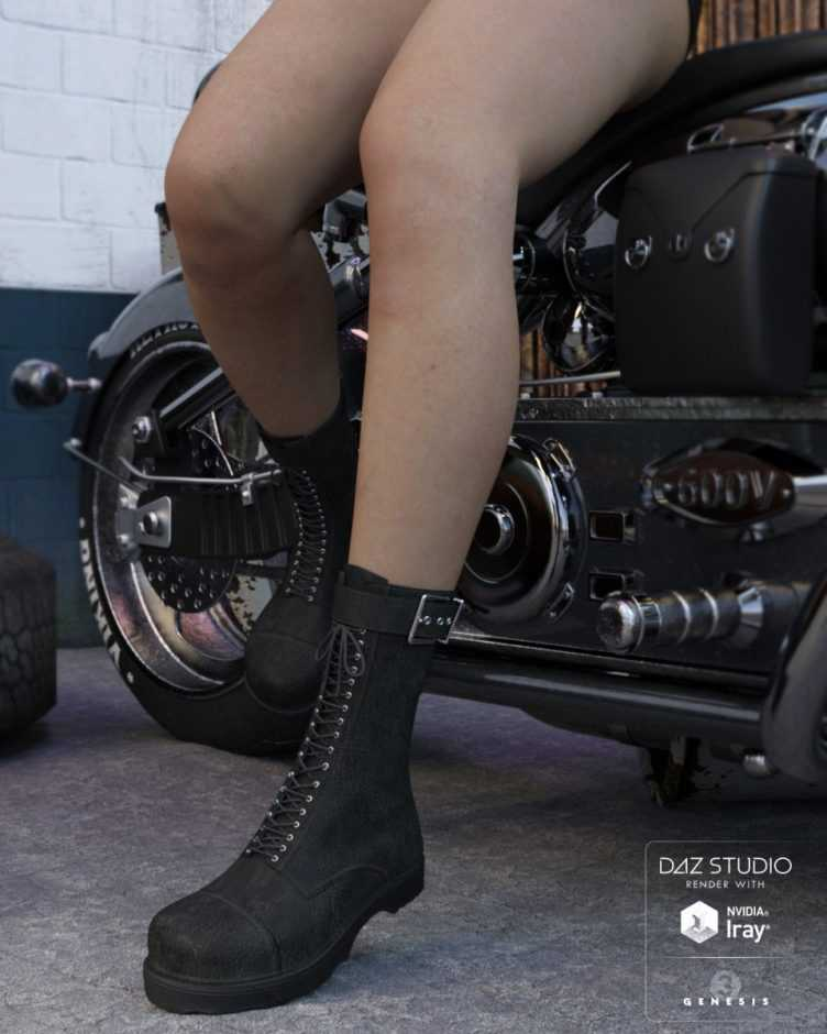 Rider Boots for Genesis 3 Female(s)