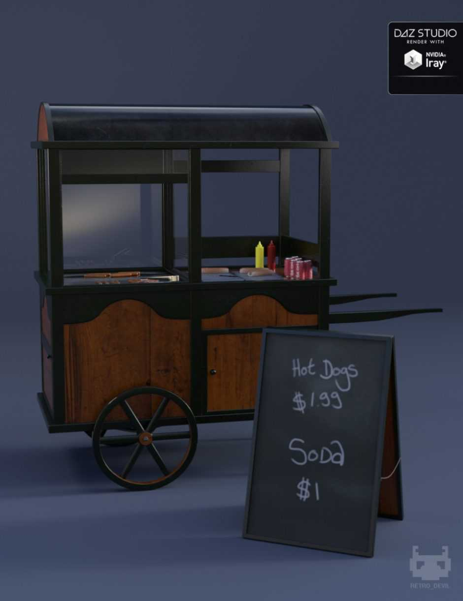 Vintage Hot Dog Cart