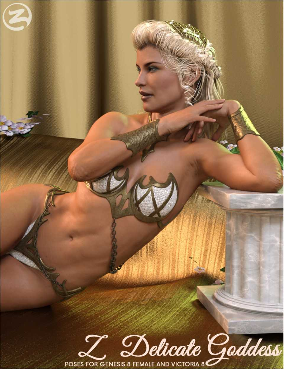 Z Delicate Goddess – Poses for Genesis 8 Female and Olympia 8