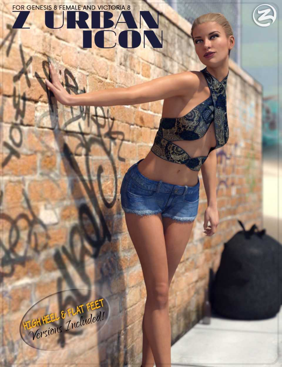 Z Urban Icon – Poses for Genesis 8 Female and Victoria 8