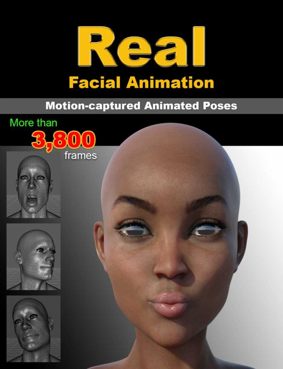 Real Facial Animation for Genesis 8 Males(s) and Female(s)