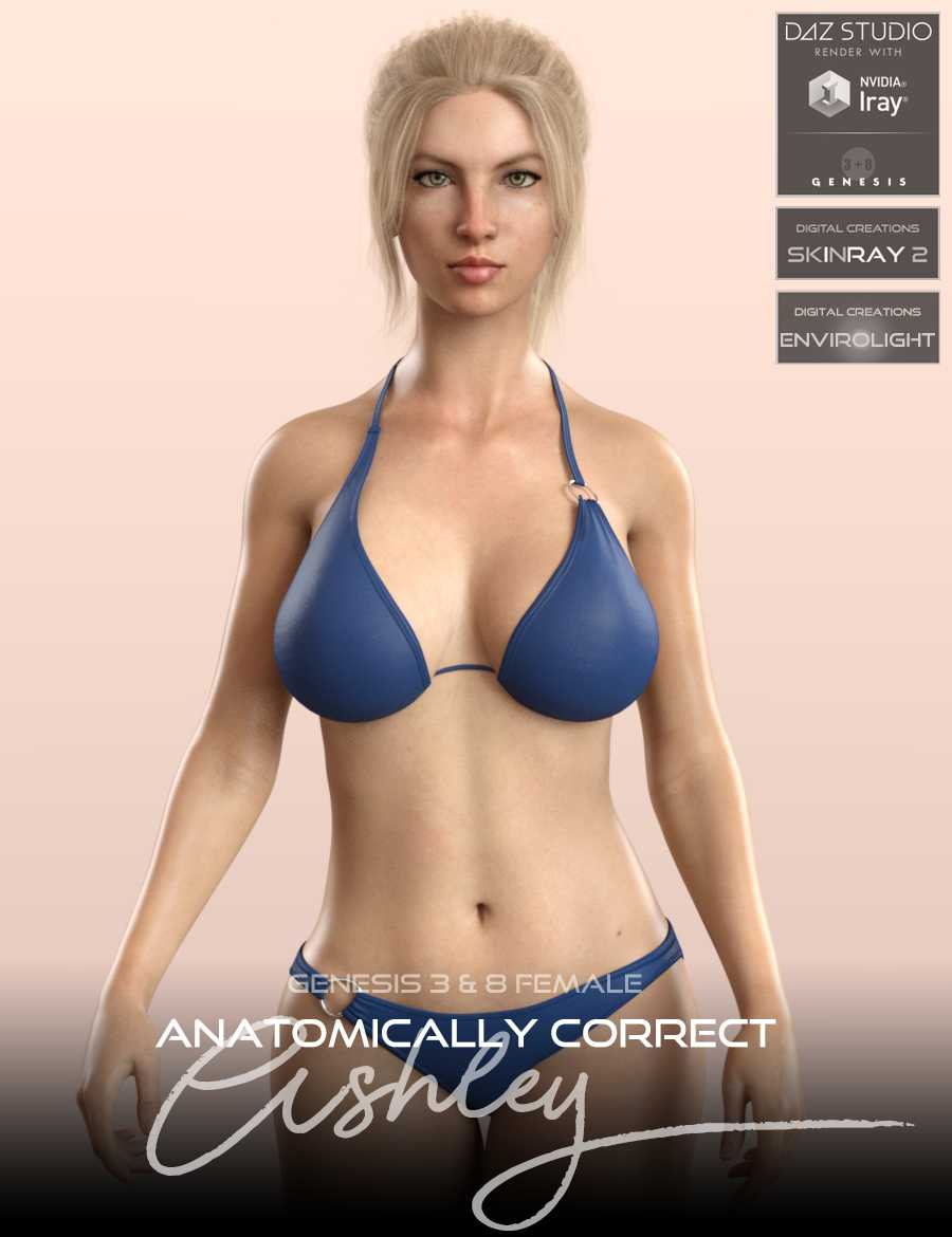 Anatomically Correct Ashley for G3F and G8F