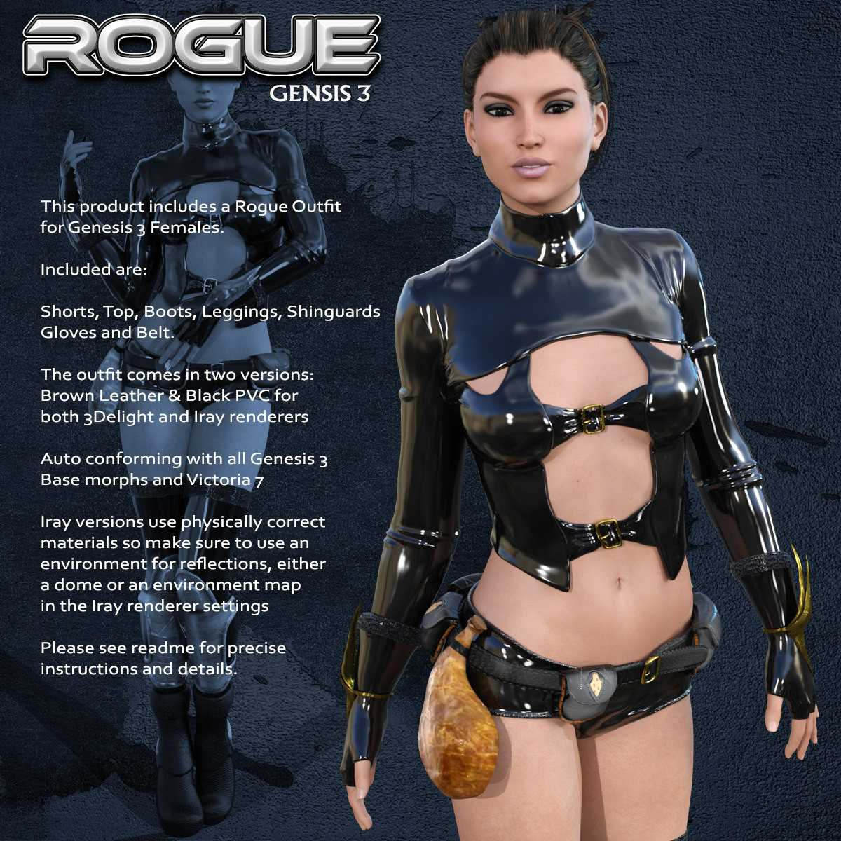 Exnem Rogue Outfit for G3