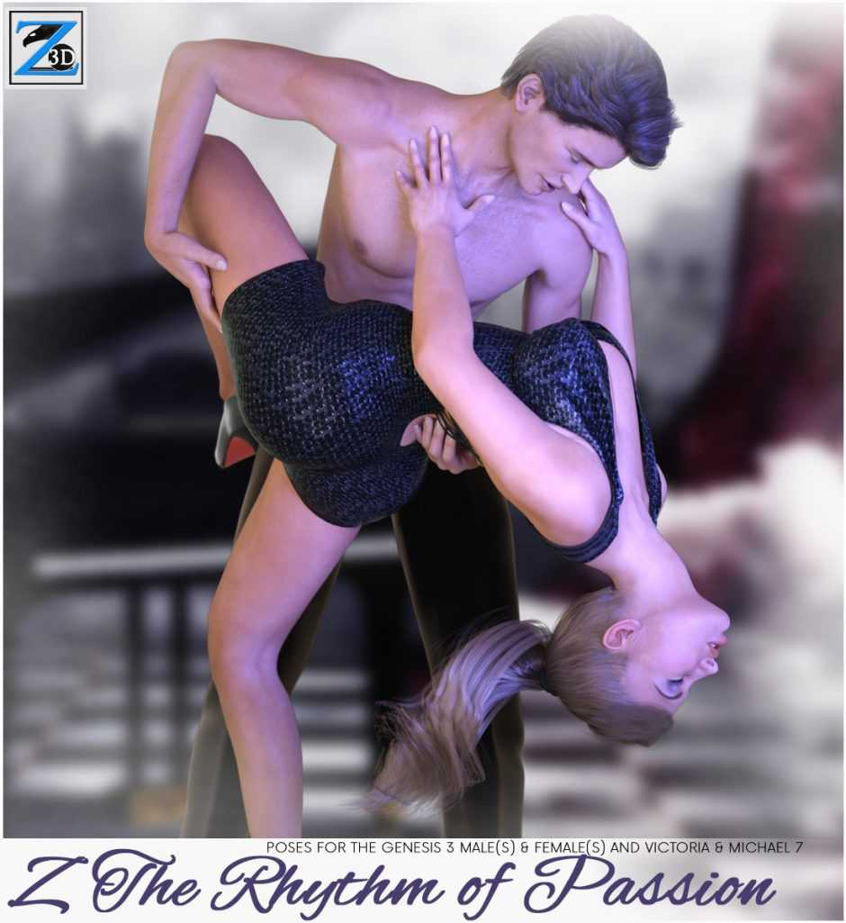 Z The Rhythm Of Passion – Poses for the Genesis 3 Males and Genesis 3 Females