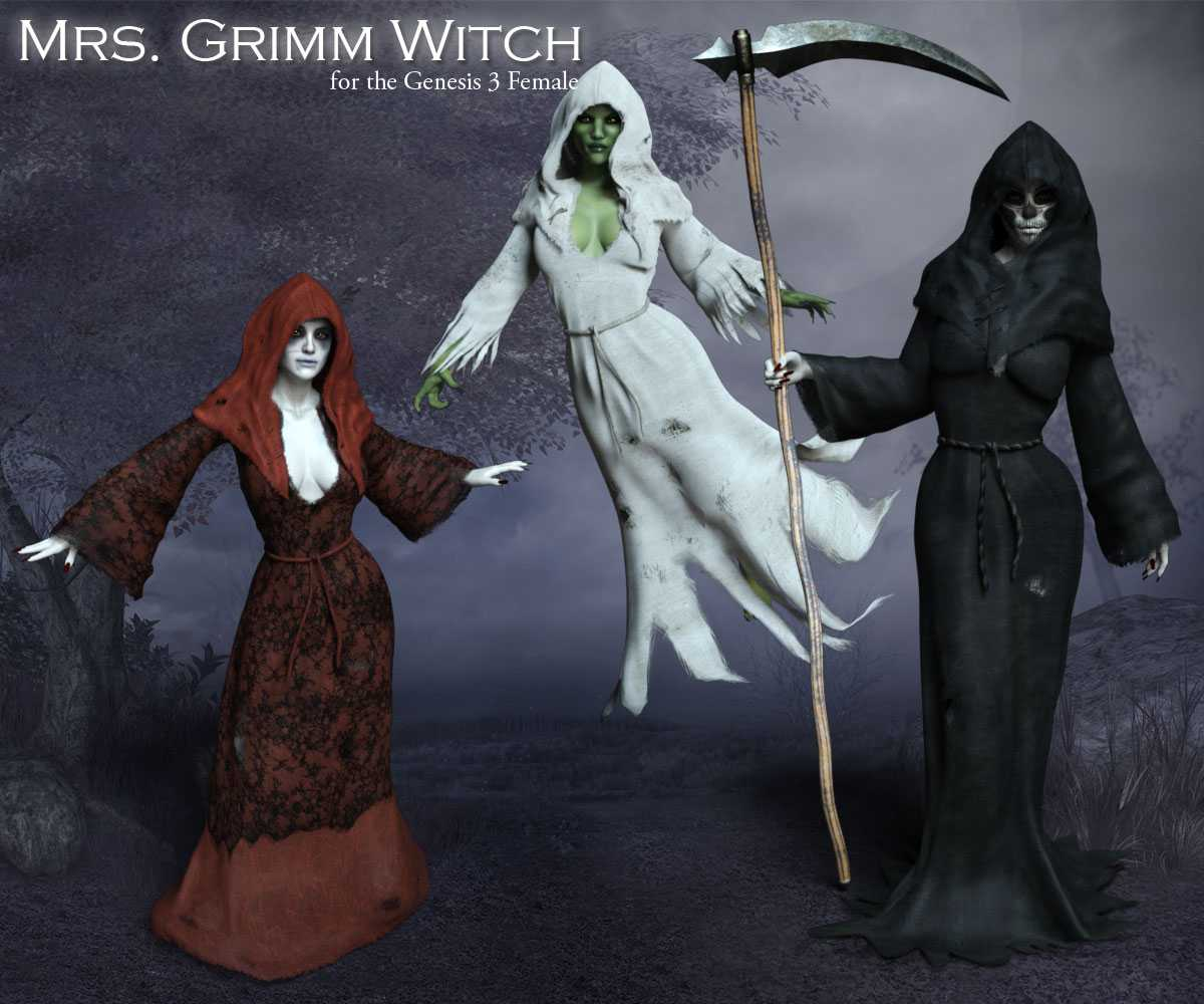 Mrs. Grimm Witch for G3F