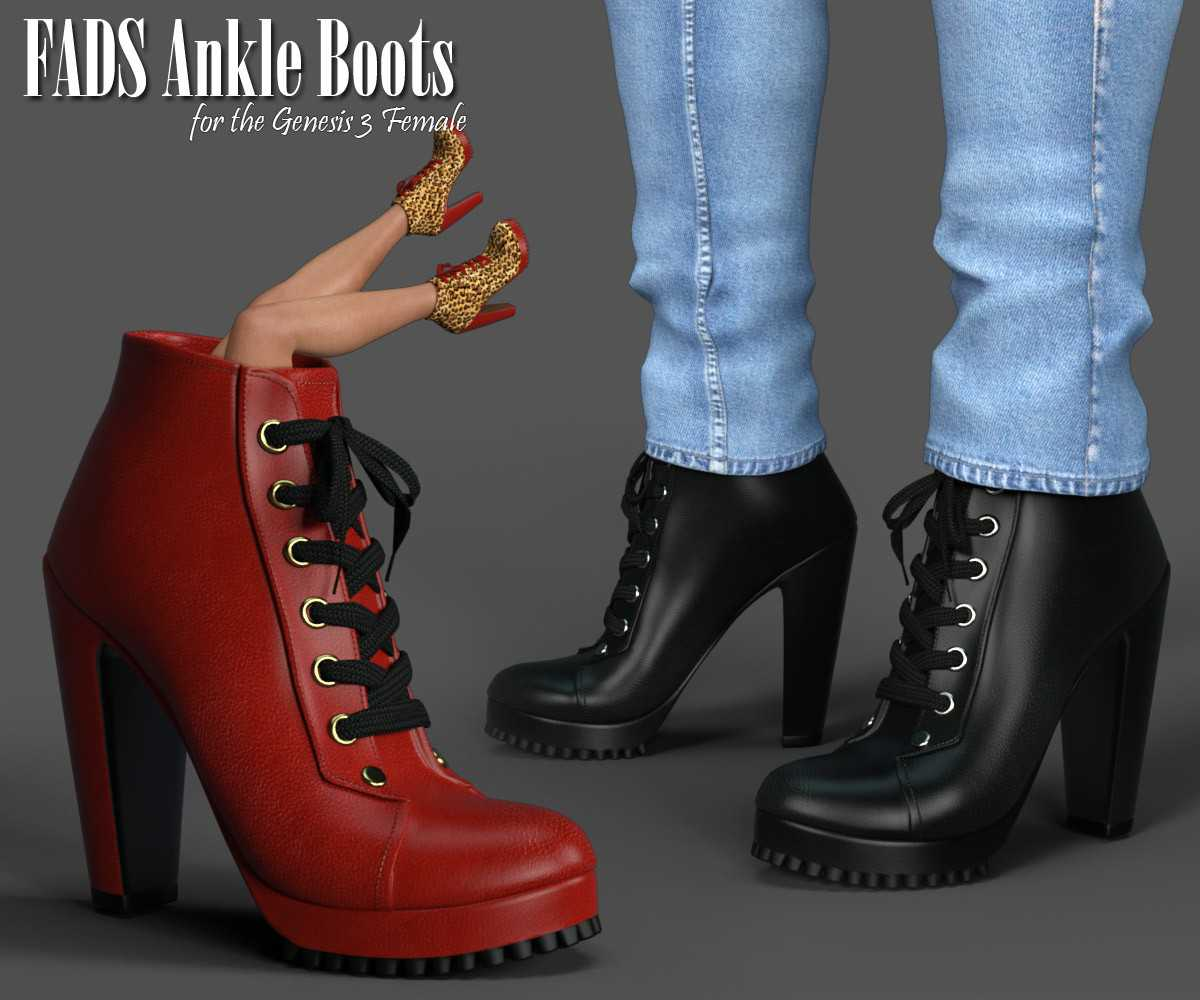 FADS Ankle Boots for Genesis 3