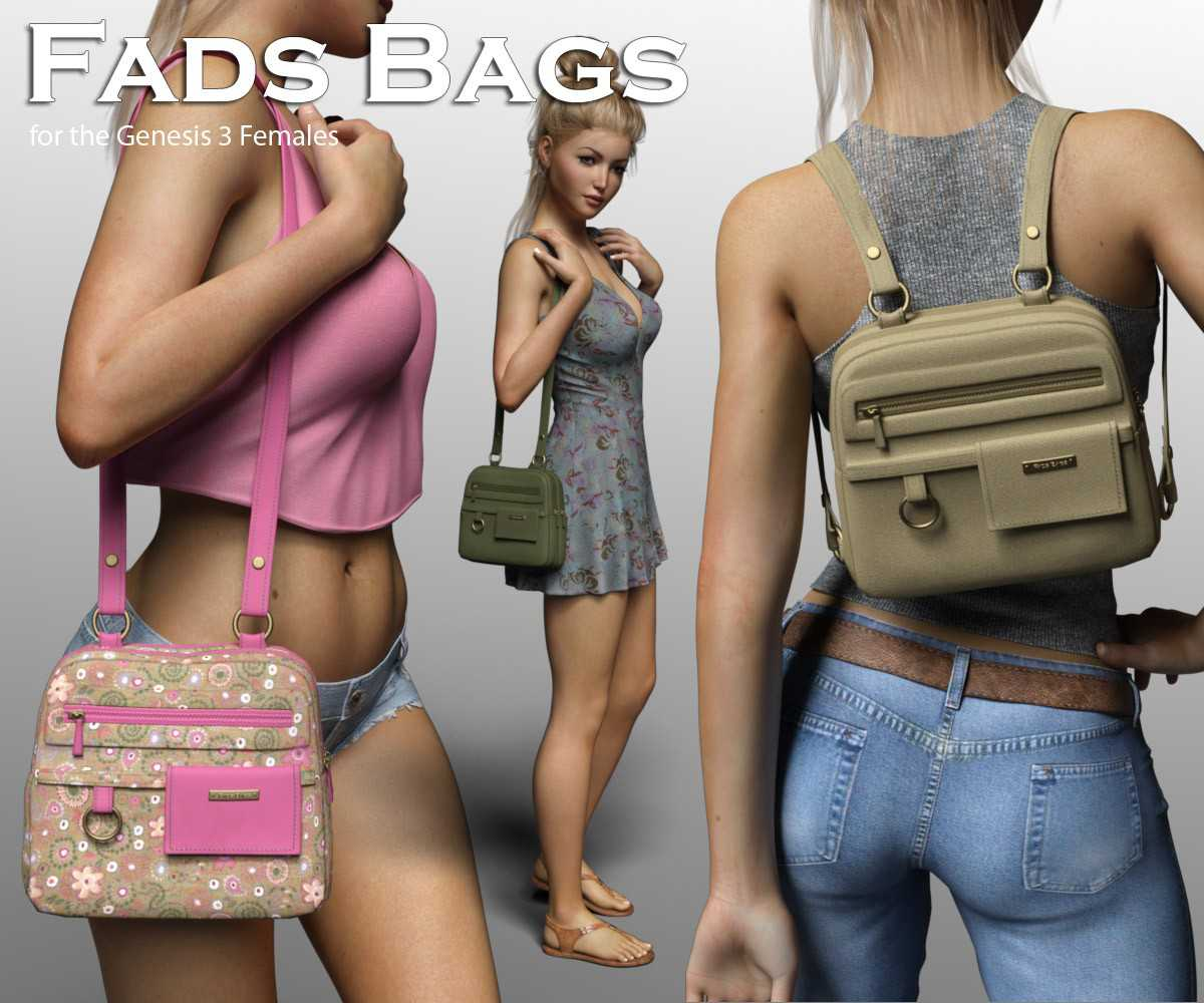 Fads Bags for the Genesis 3 Female
