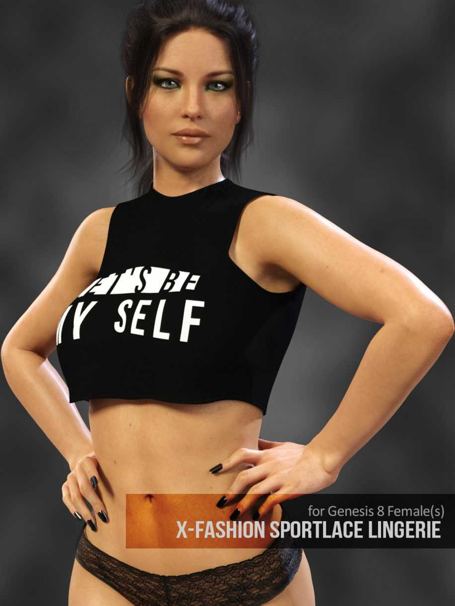 X-Fashion SportLace Lingerie for Genesis 8 Females