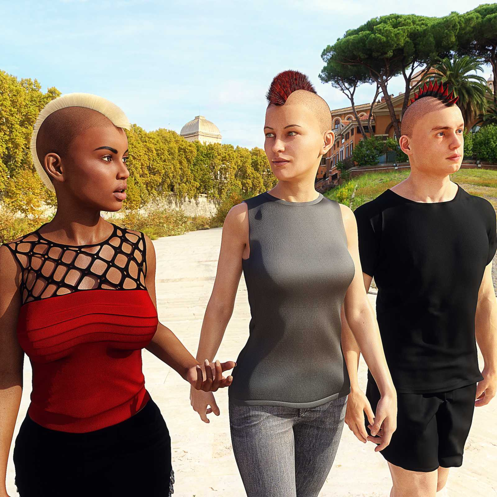 Mohawk for Genesis 8 Male and Female
