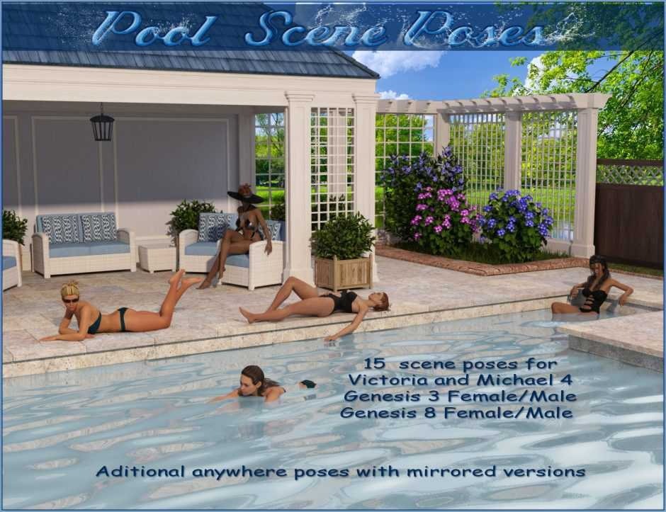 Pool Scene Poses – V4,M4-G3 and G8