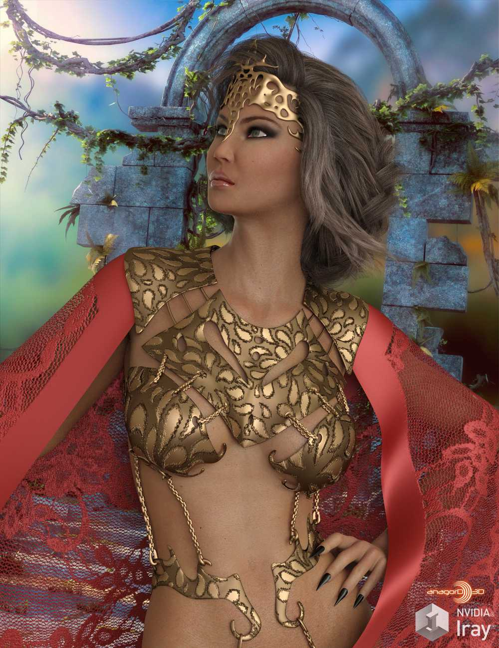 HEROINE – Princess of Mars Outfit for Genesis 8 Female