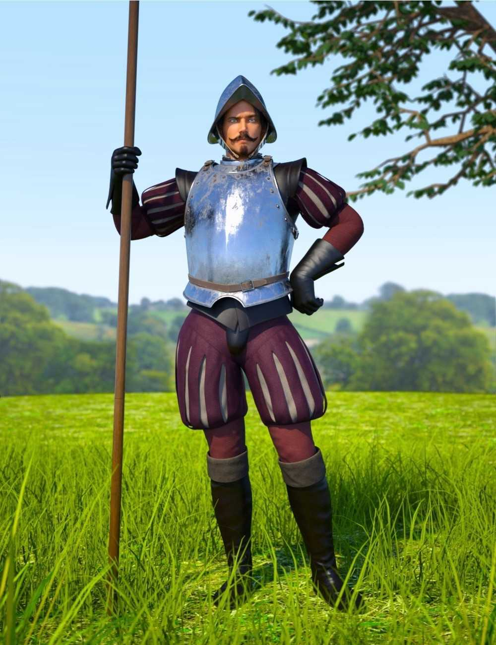 Conquistador Outfit and Armor for Genesis 3 Male