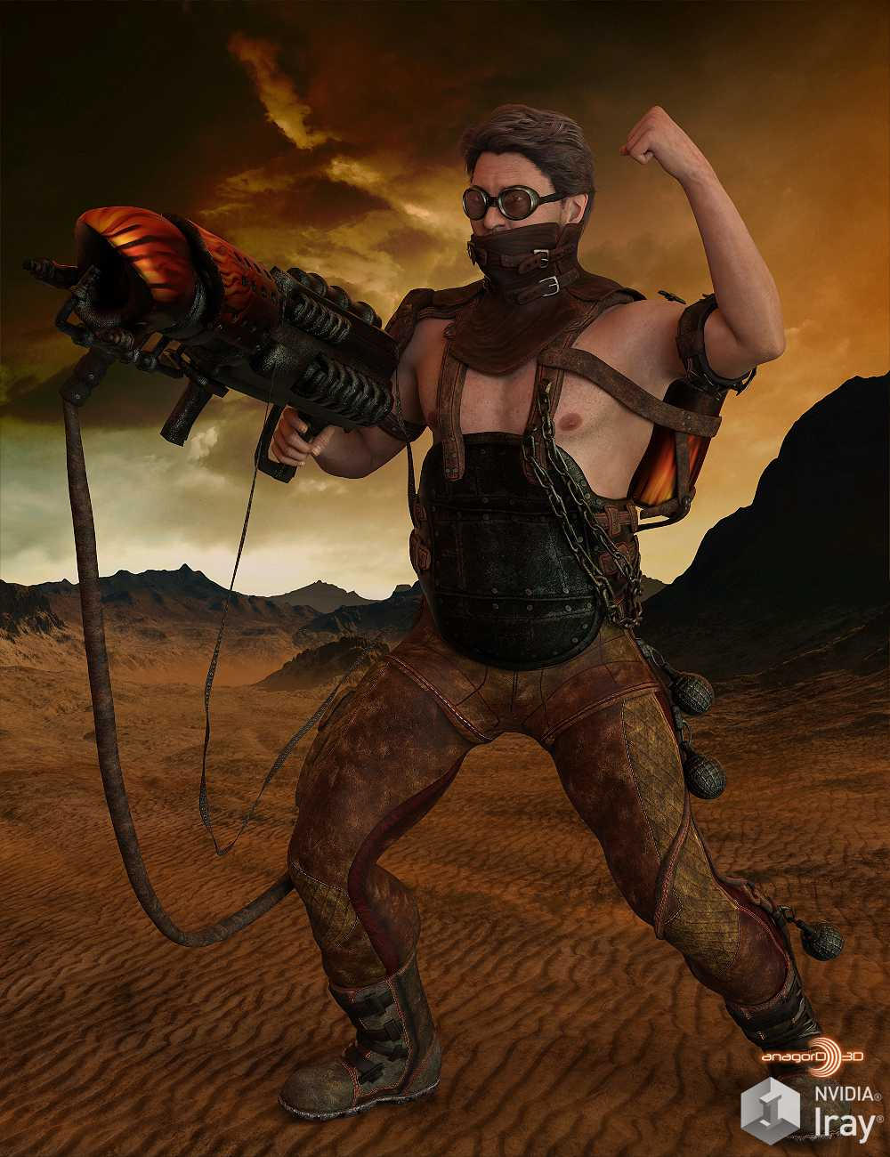 BLACKHAT – Outlanders Fireball – for DS and Genesis 8 Male