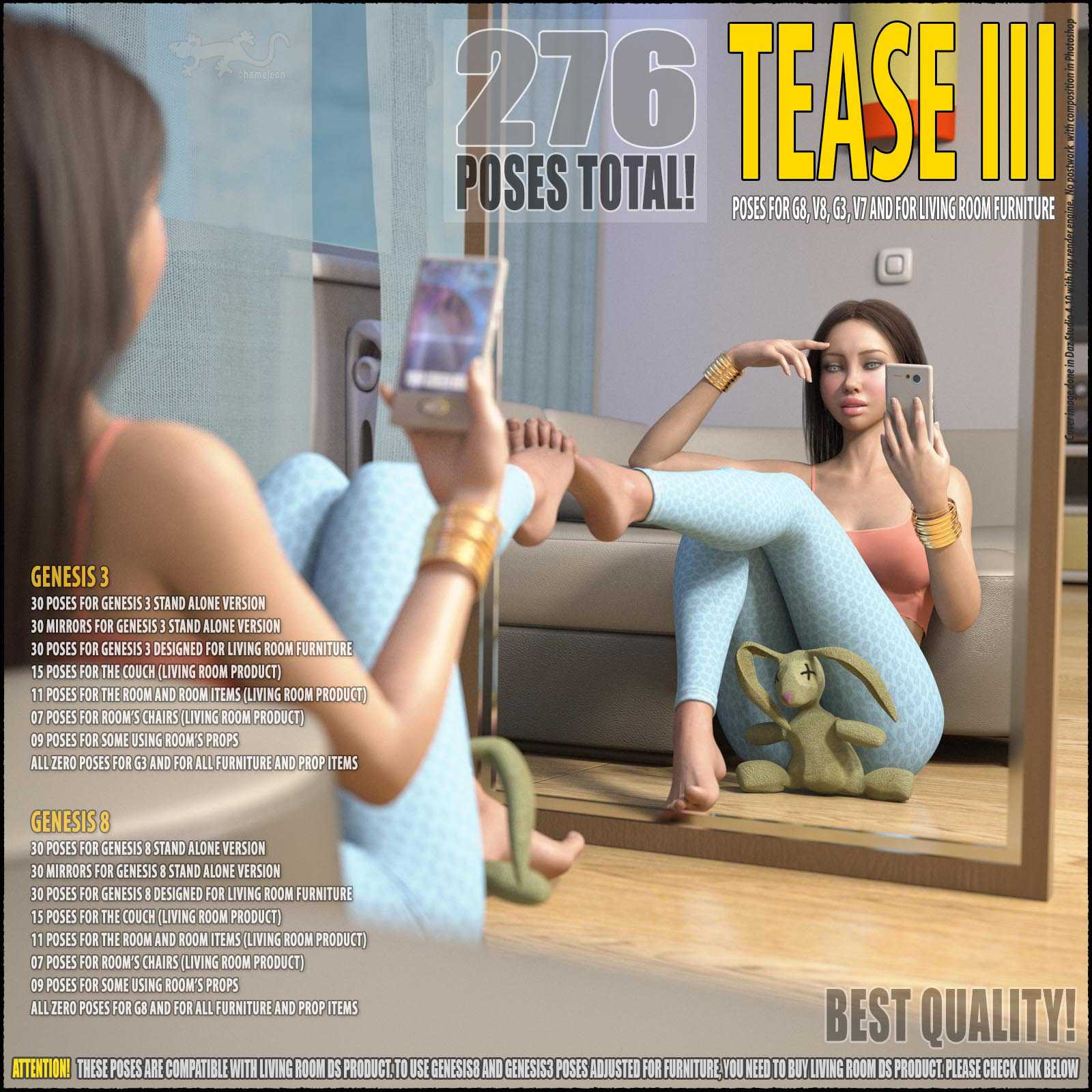 Tease III – Poses for G8 and for G3