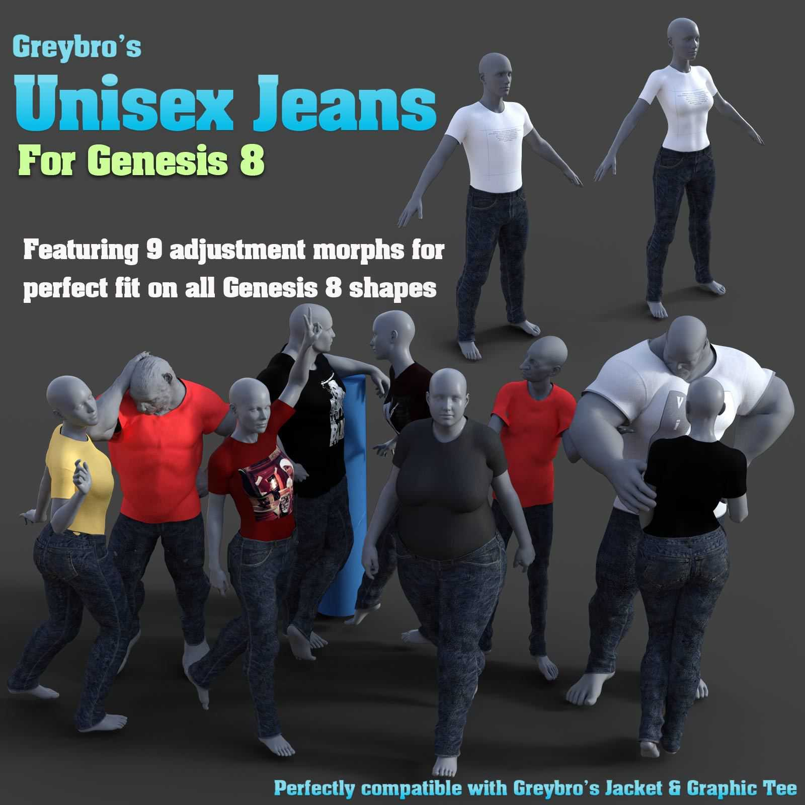Greybro's Unisex Jeans for G8