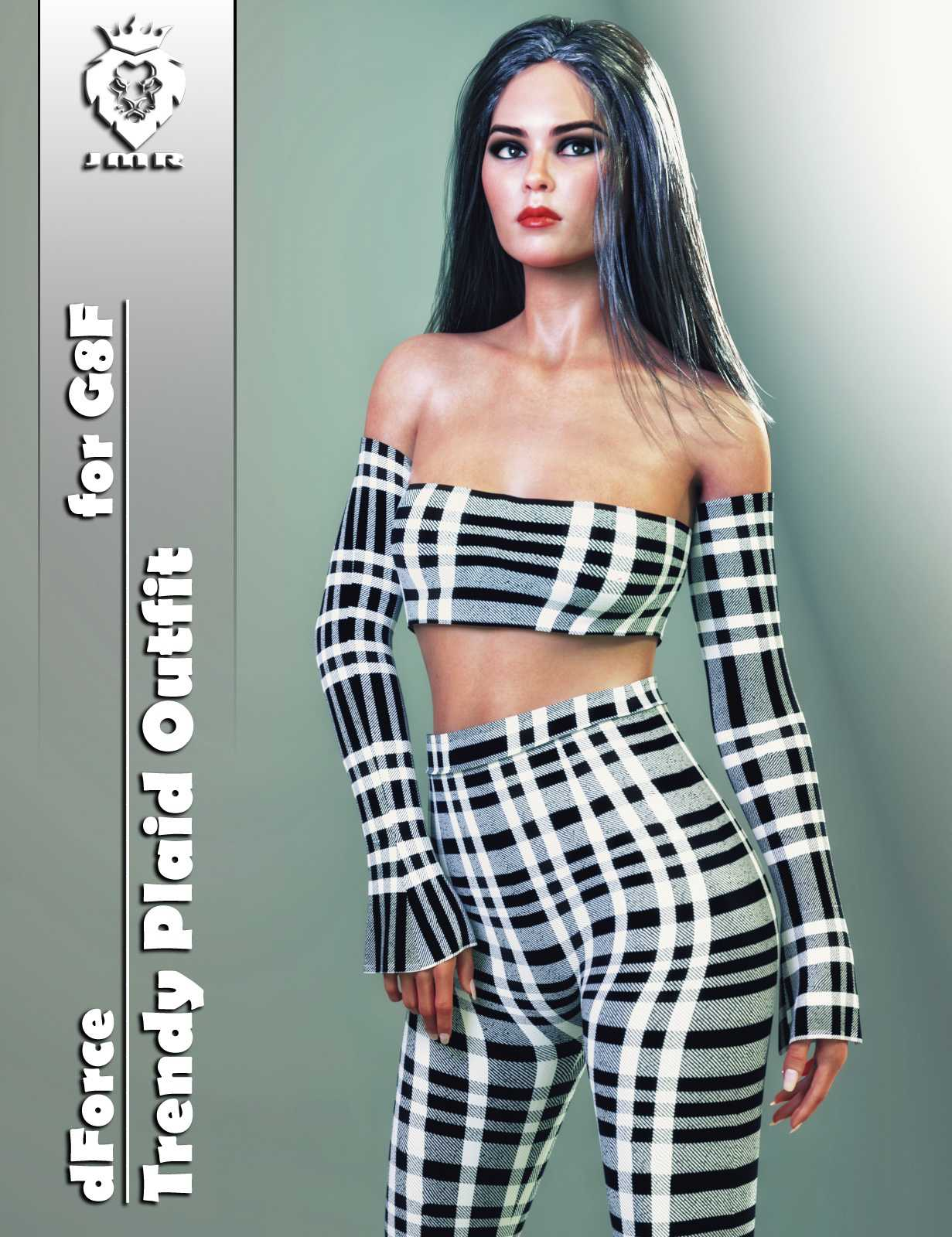 JMR dForce Trendy Plaid Outfit for G8F