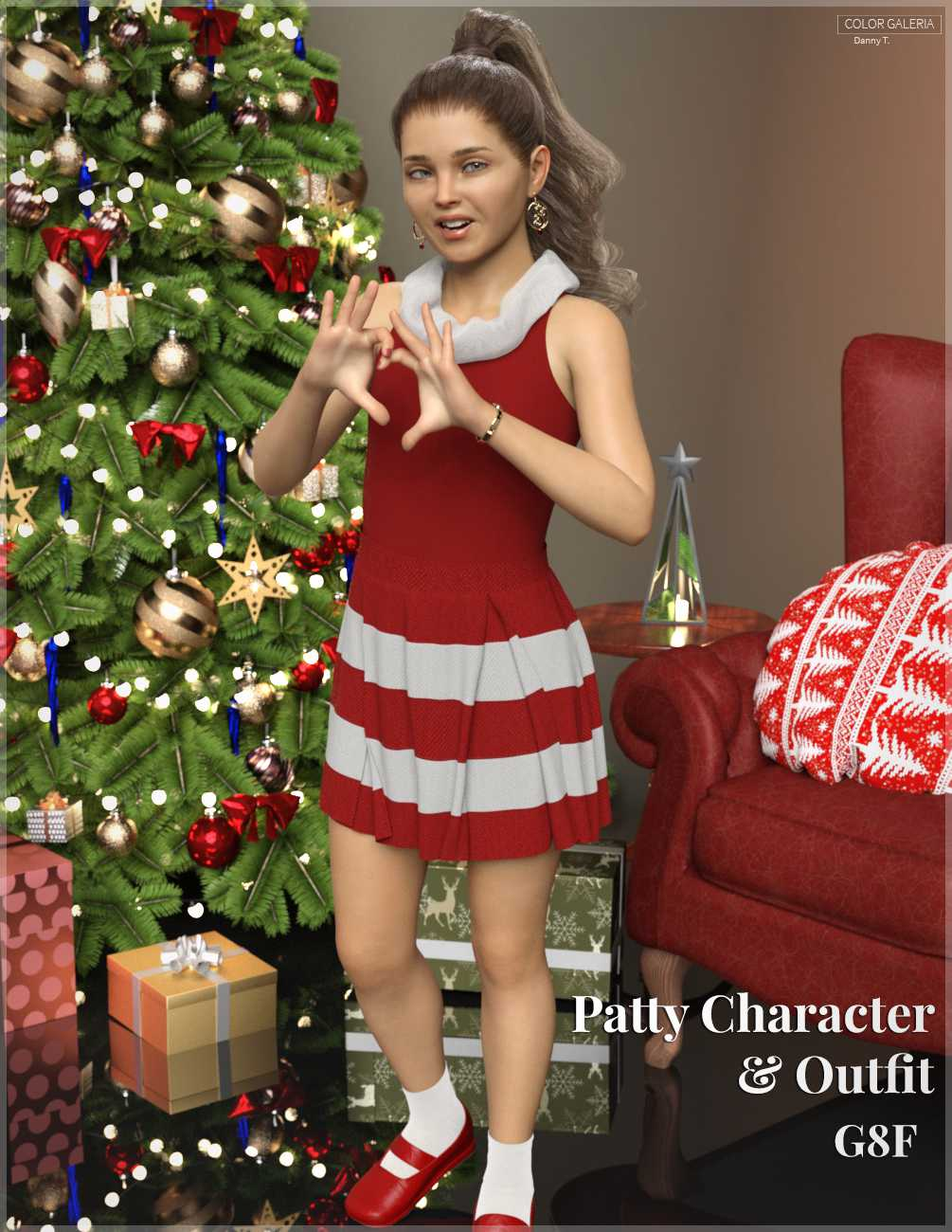 Patty Character & Outfit for Genesis 8 Female