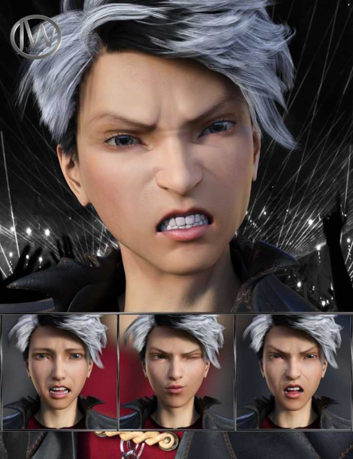 Pop Style - Expressions for Genesis 8 Male and Yuzuru 8