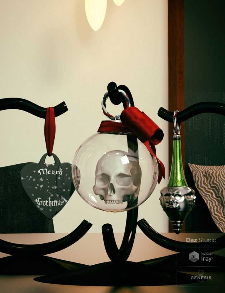 A Gothic Christmas Tabletop Decoration