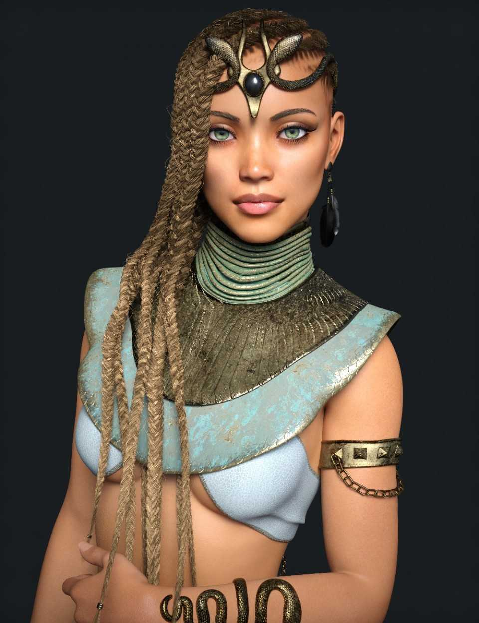 Akila Character with Hair Textures for Genesis 8 Female