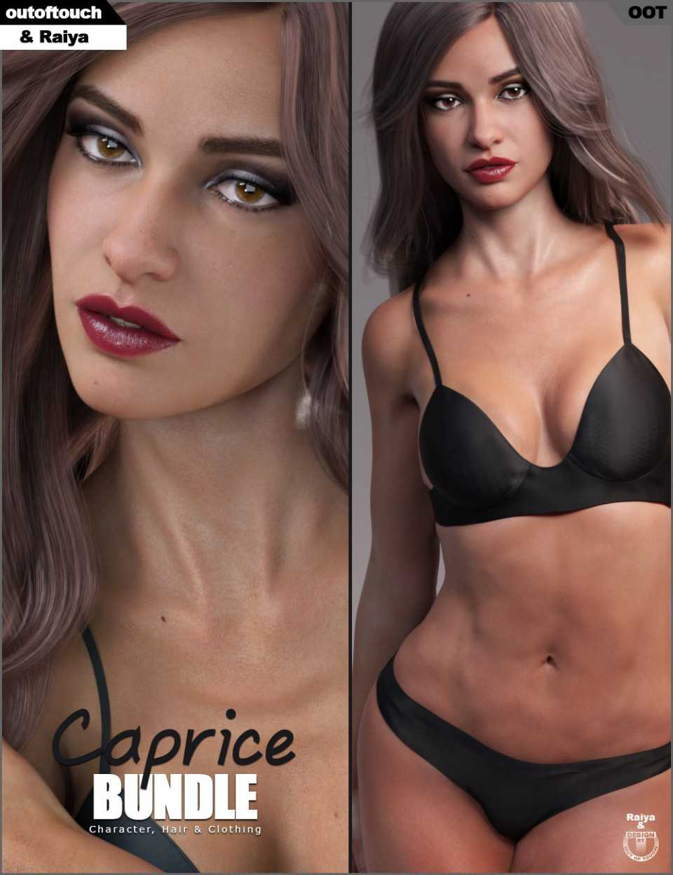 Caprice Character, Hair and Clothing Bundle