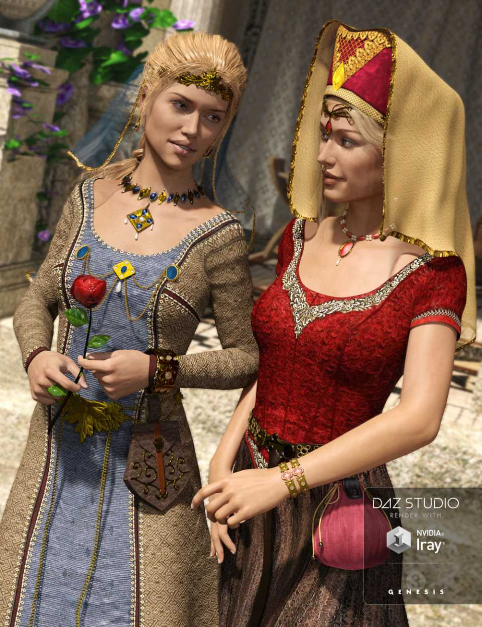 Medieval Fantasy Accessories for Genesis 3 Female