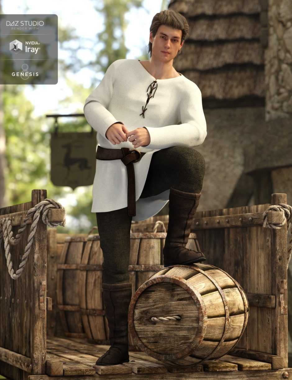 Peasant Outfit for Genesis 8 Male