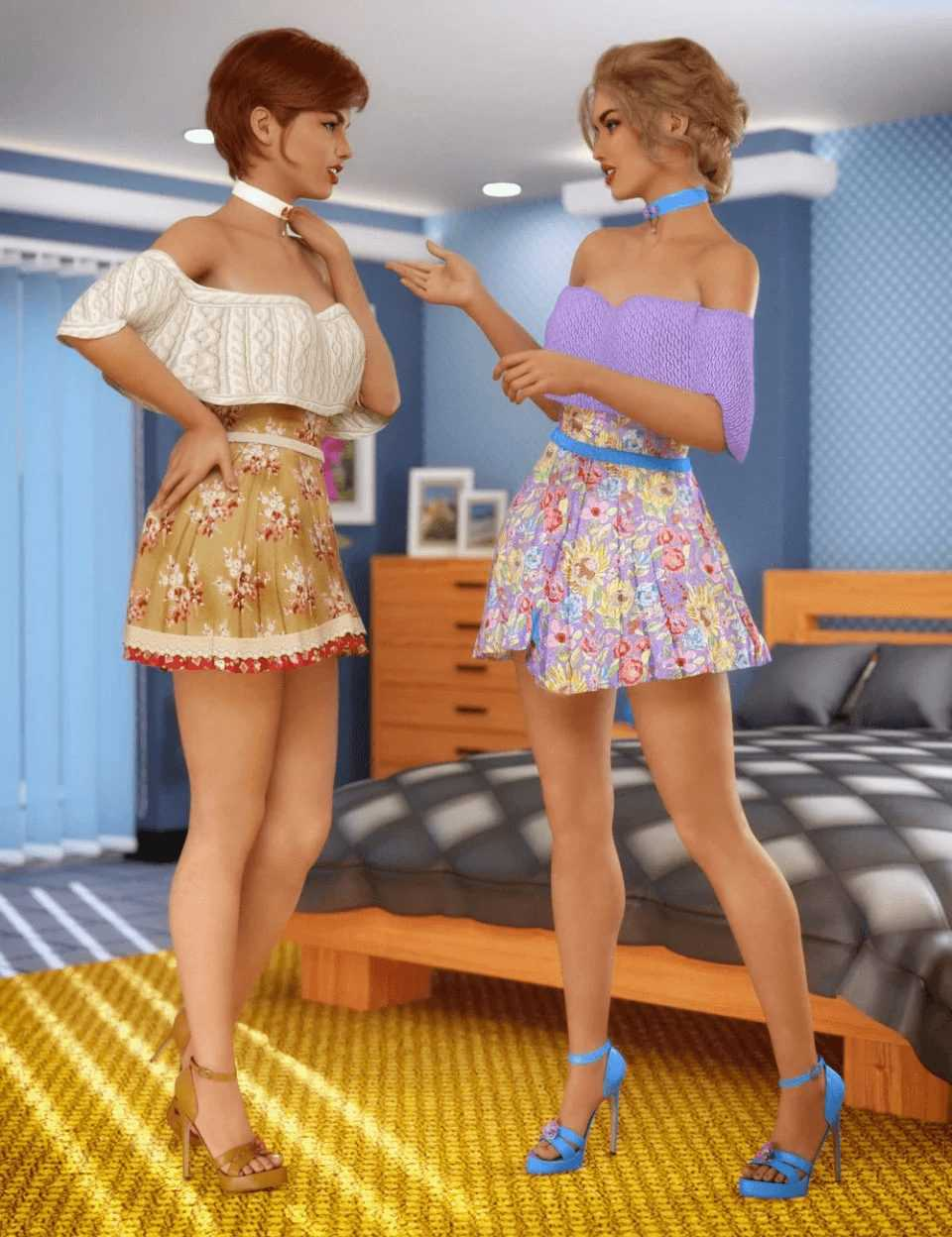 dForce Candy Kisses Outfit Textures