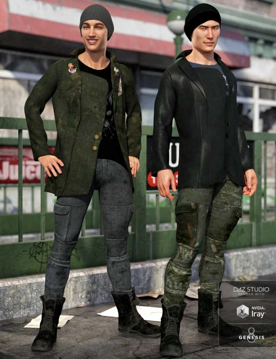 dForce Hot Shot Outfit Textures