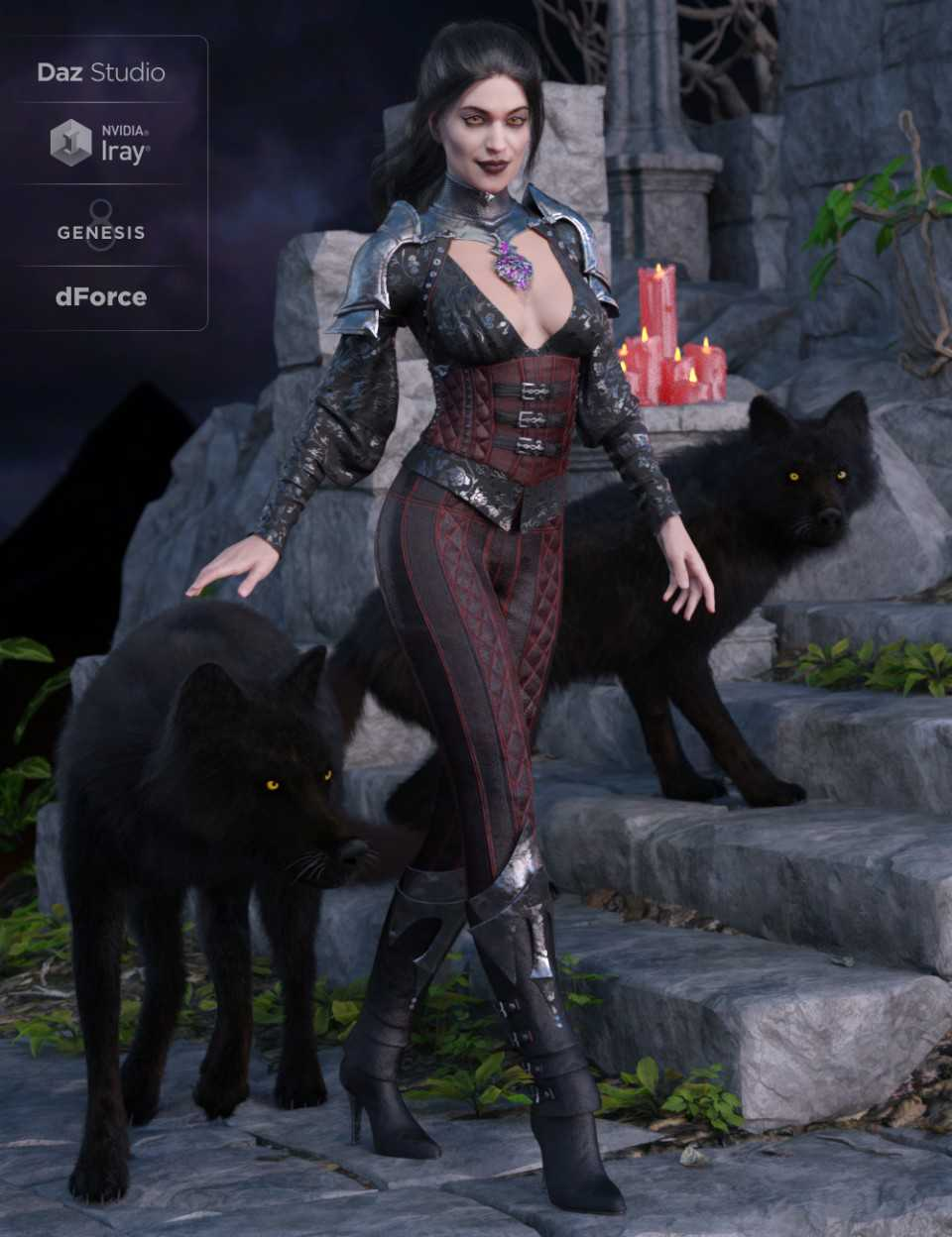 dForce Immortals Outfit for Genesis 8 Female(s)