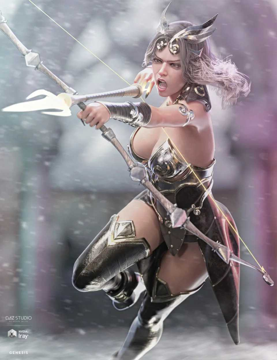 dForce Lightning Archer Outfit and Weapons