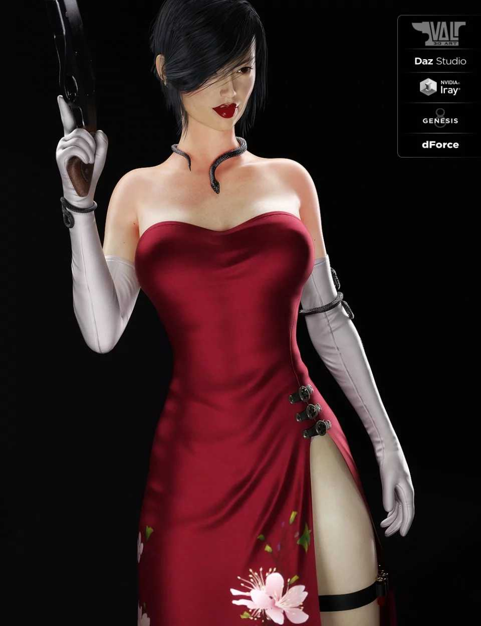dForce Nicole Agent Outfit for Genesis 8 Female(s)