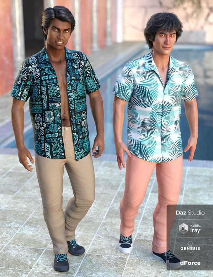 dForce Party Oahu Outfit Textures