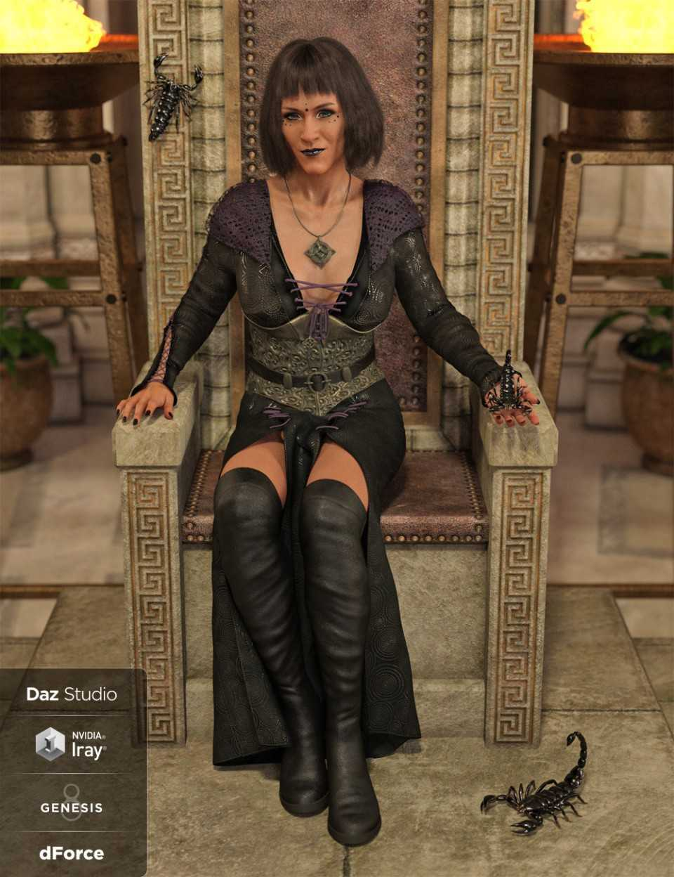 dForce Shady Vale Outfit for Genesis 8 Female(s)