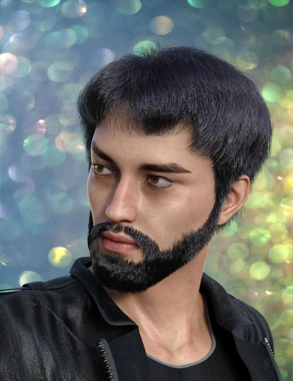dForce Trendy Overdue Hair and Beard for Genesis 8 Male(s)