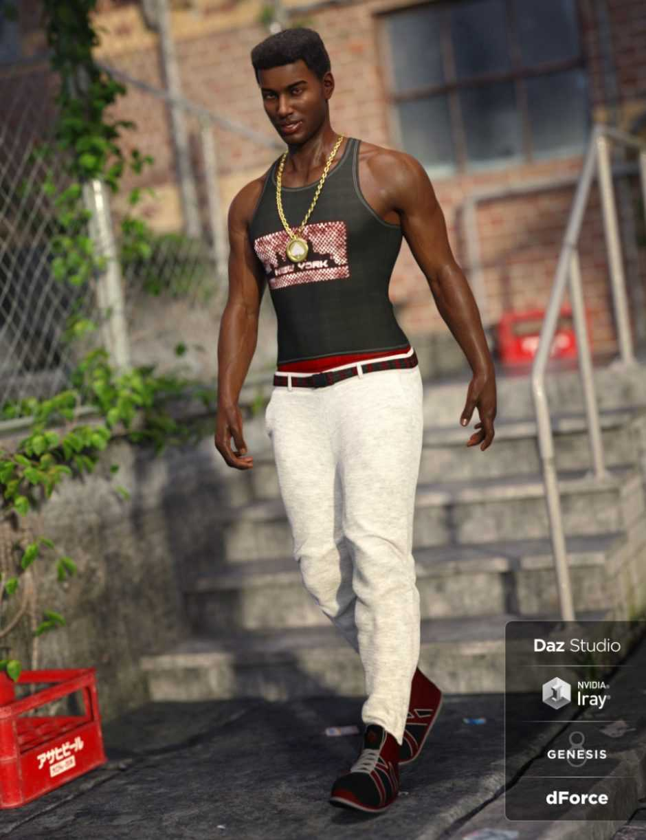 dForce Urban Ace Outfit for Genesis 8 Male(s)