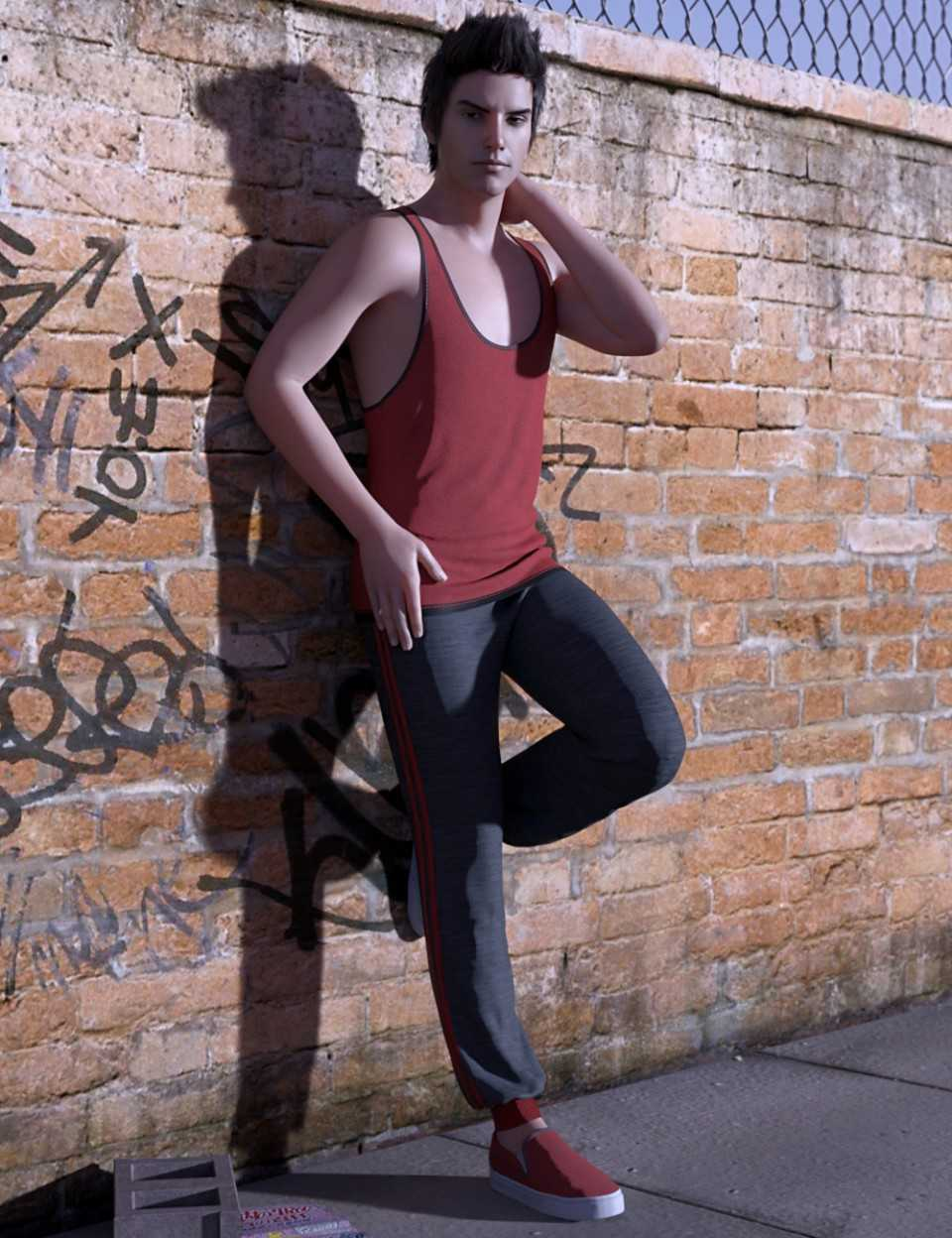dForce Urban Casual Outfit for Genesis 8 Male