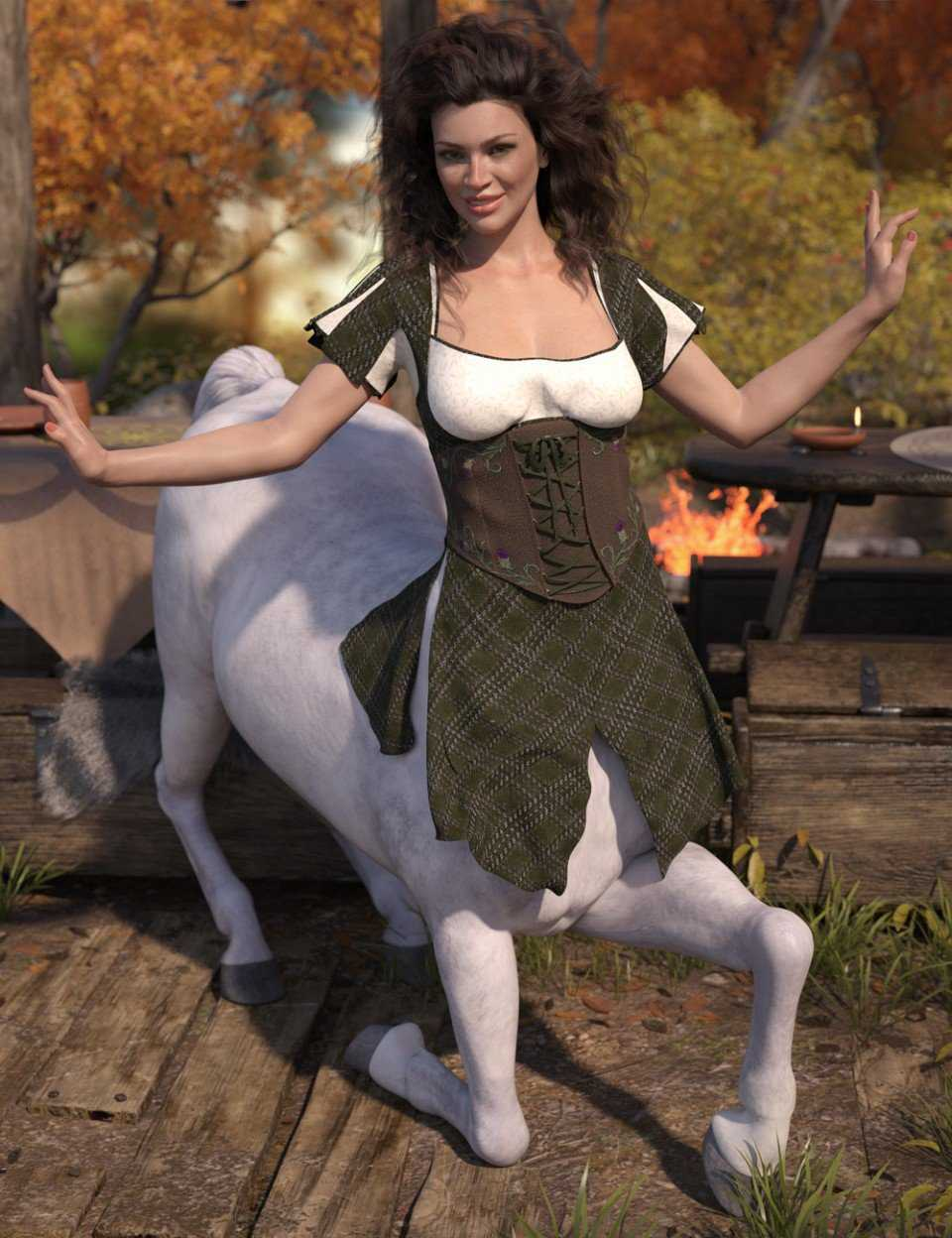 dForce Willow Outfit for Genesis 8 Female Centaur