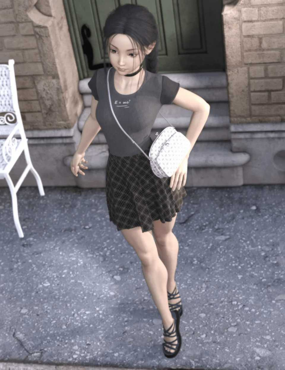 dForce Young Casual Style Outfit for Genesis 8 Female(s)