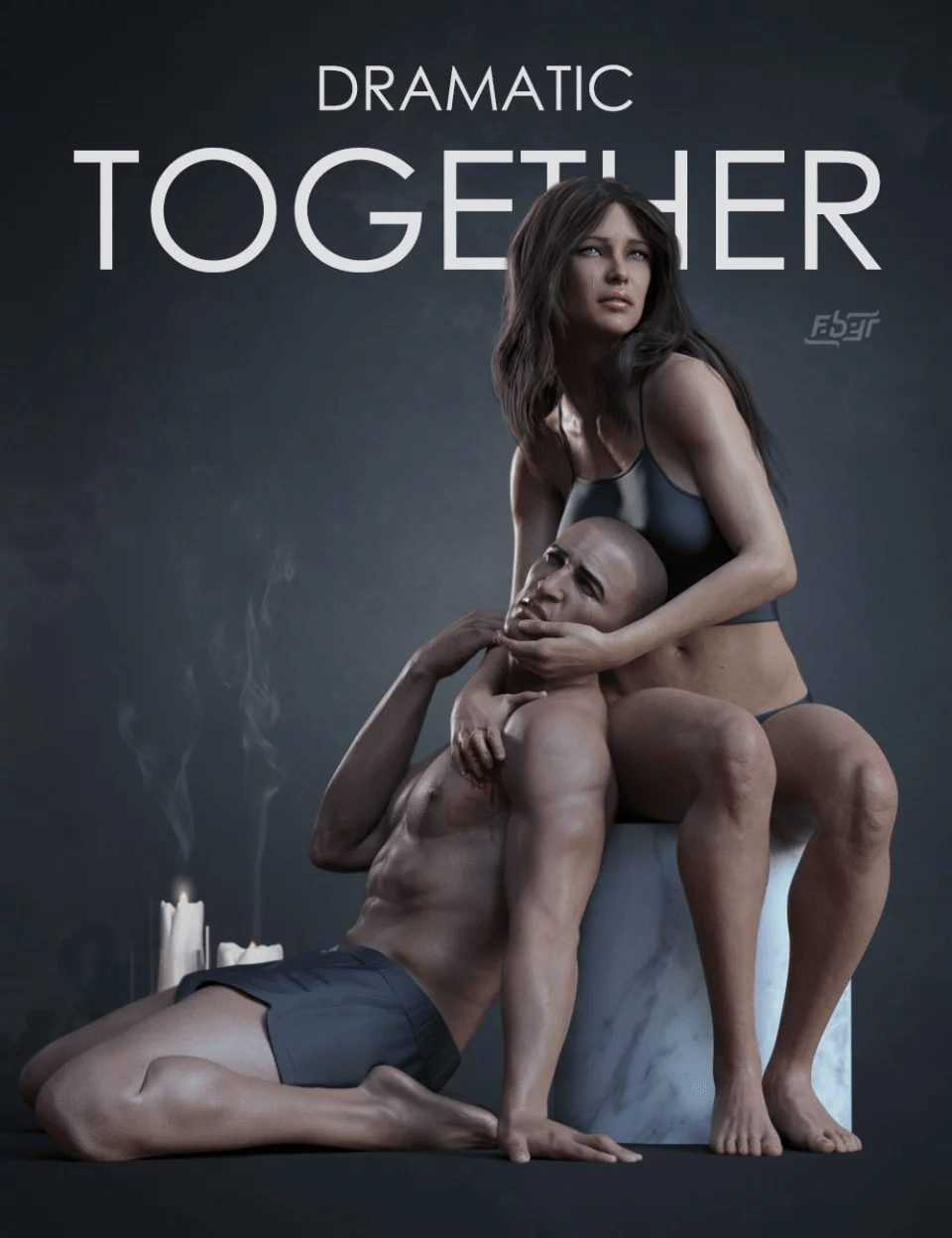 Dramatic Together Poses for Genesis 8
