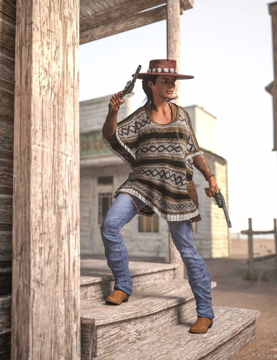 Dusty HD Cowgirl Outfit for Genesis 8 Female(s)