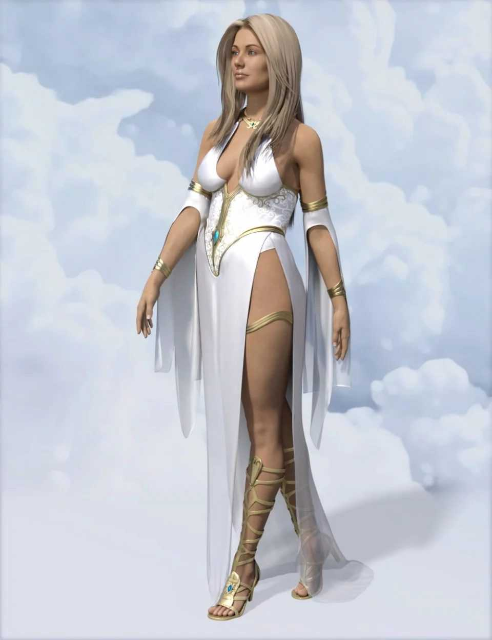 dForce Ethereal Goddess Outfit for Genesis 8 Female(s)